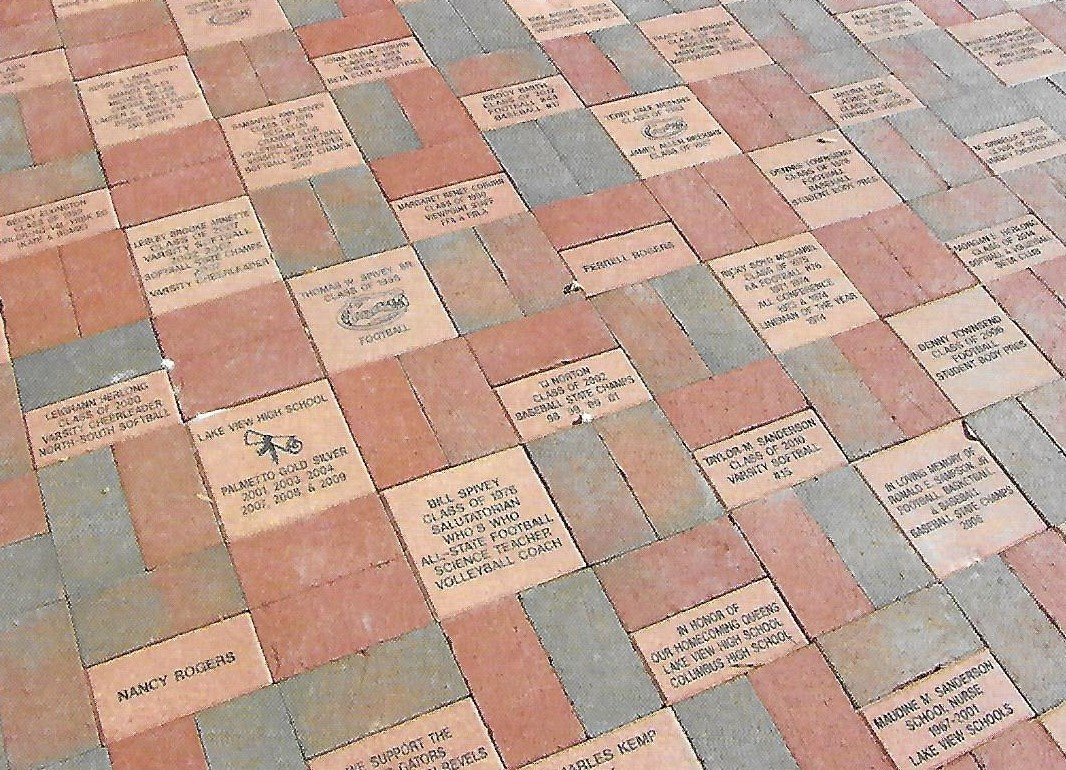Donor bricks arranged nicely