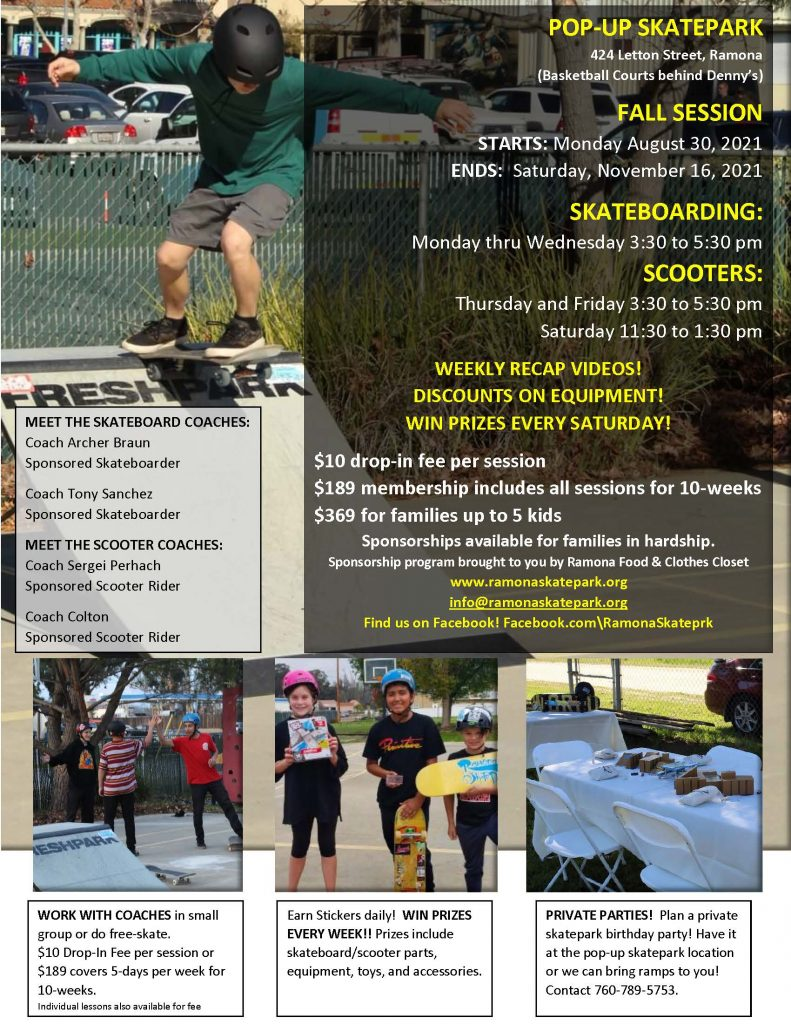 Fall Session Flier 2021